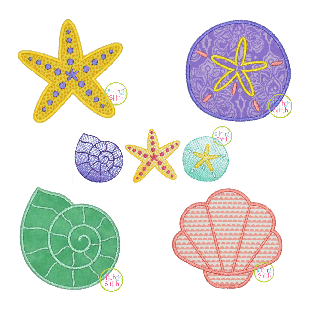 Conch Shell 12 Pieces Palm Tree Flip Flop Seashell Shoreside Nautical Seashell /& Island Miniature Beach Themed Arts and Crafts Stickers Starfish