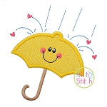 Showers of Love Umbrella Applique
