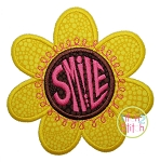 Smile Flower Applique