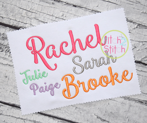 Smoothie Shoppe Embroidery Font The Itch 2 Stitch