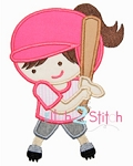Softball Girl Applique