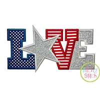 Star LOVE 2 Applique