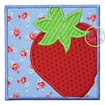 Strawberry Box Applique