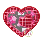 Triple Heart Applique