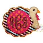 Turkey for Monogram Applique