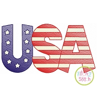 USA Sketch Embroidery