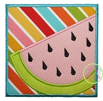 Watermelon Box Applique