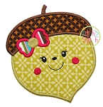 Acorn Girl Applique