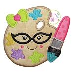 Art Glasses Girl Applique