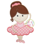 Ballerina Girl Applique