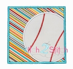 Baseball Box Applique