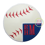 Baseball Monogram 2 Applique