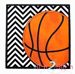 Basketball Box Applique