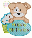 Birthday Puppy Applique
