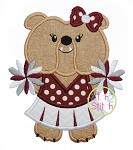 Bulldog Cheer Mascot Applique