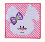 Bunny Box Girl Face Applique