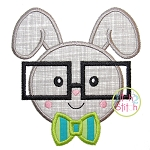 Bunny Glasses Boy Applique