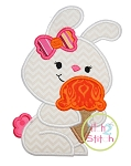 Bunny Ice Cream Applique