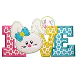 Bunny Love Applique 2