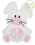 Bunny Monogram Applique Frame