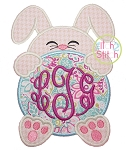Bunny Monogram Peeker Applique