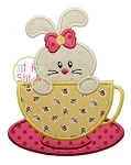 Bunny Teacup Applique