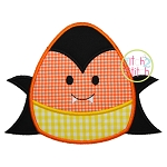 Candy Corn Dracula Applique