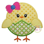 Chick Egg Girl Applique
