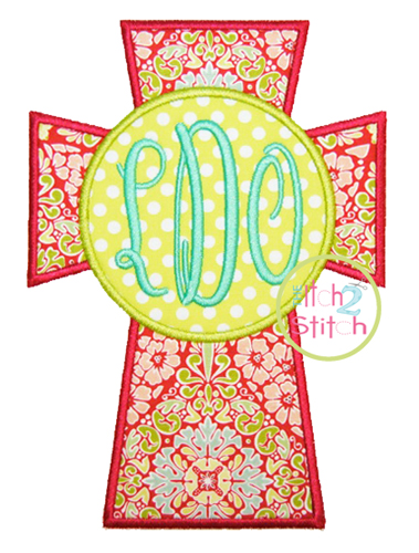 cross monogram applique