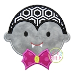 Dracula Head Applique