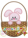 Easter Bunny Basket 2 Applique