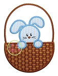 Easter Bunny Basket 3 Applique