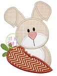 Easter Bunny Carrot Applique