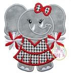 Elephant Cheer Mascot Applique