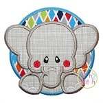 Elephant Circle Applique