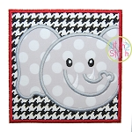 Elephant Face Box Applique