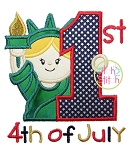 First 4th of July Liberty Applique