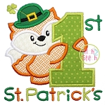 First St Patrick's Fox Applique