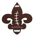 Fleur de lis Football Applique