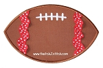 Football Applique with Trim