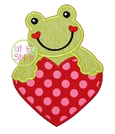 Frog Heart Applique