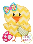 Easter Chick Girl Applique