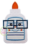 Glue Bottle Glasses Boy Applique