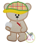 Golf Bear Applique