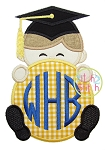 Grad Peeker Boy Applique