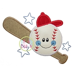 Happy Baseball Applique