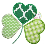 Heart Shamrock Applique