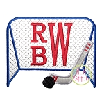 Hockey Goal Applique