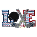 Hockey Love Applique