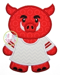 Hog Jersey Mascot Applique
